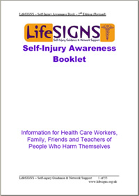 Self-injury awareness booklet