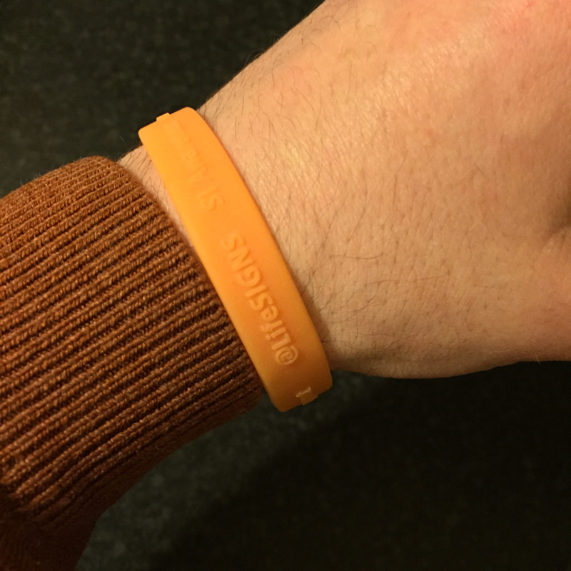 Wristband 2015 hand