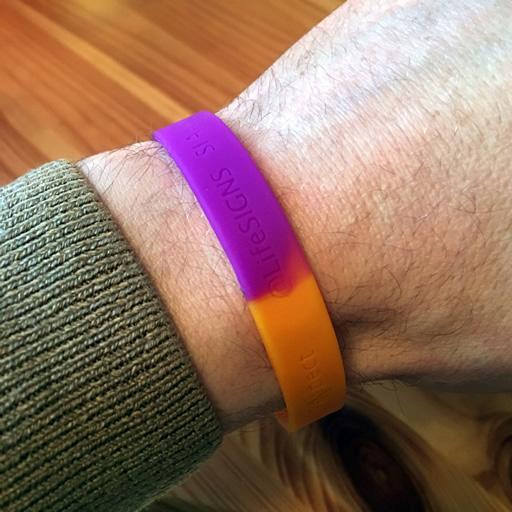 Self harm awareness wristband