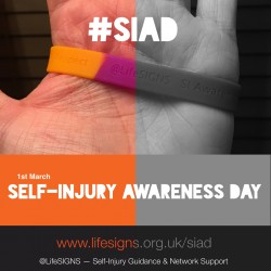 Self-Injury Awareness Day is today – 1st of March