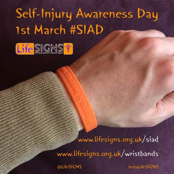 Wristbands for Self-Injury Awareness Day