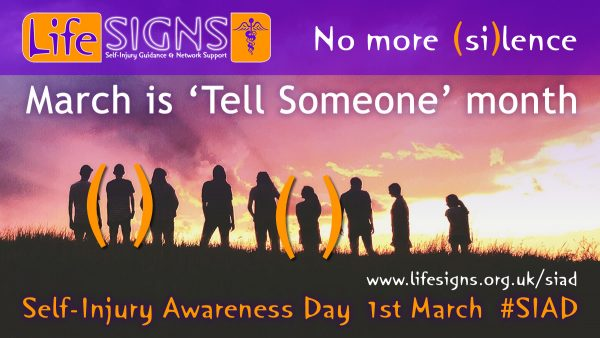 March is Tell Someone month