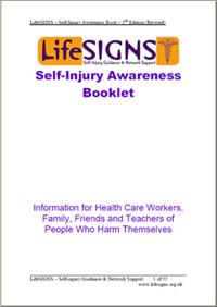Self-injury awareness booklet