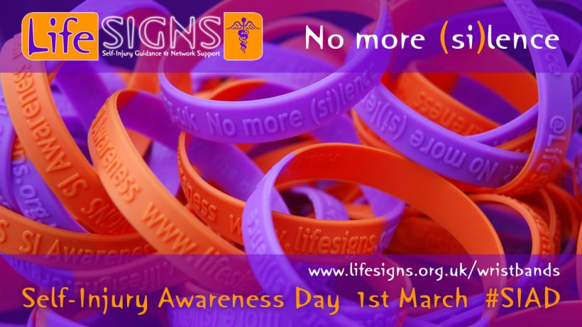 New self-injury awareness wristbands now available for 2018