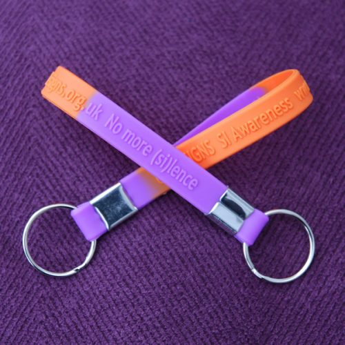 Two crossed key rings